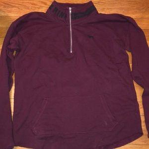 VS PINK. Quarter zip sweatshirt